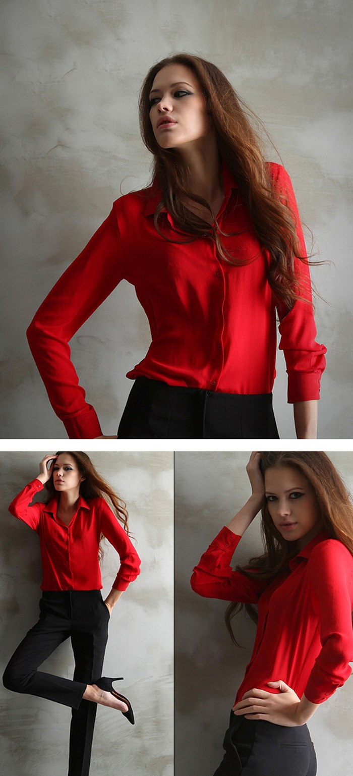 HTB1m1vxOXXXXXcXXpXXq6xXFXXXA - Women Blouses Button 5 Solid Color New Long-sleeve Shirt Female Chiffon blouse Women's Slim Clothing blusas feminina