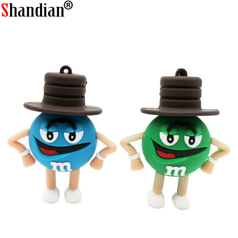 Hearty Jaster Promotional Mini Cartoon External Storage Usb 2.0 4gb 8gb 16gb 32gb 64gb Wearing A Hat M Bean Series Usb Flash Drive External Storage