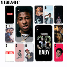 YoungBoy Never Broke Again Lil Baby Soft Silicone Case for Apple Iphone Xr Xs Max X 10 8 Plus 7 6S 6 SE 5S 5 7Plus 8Plus