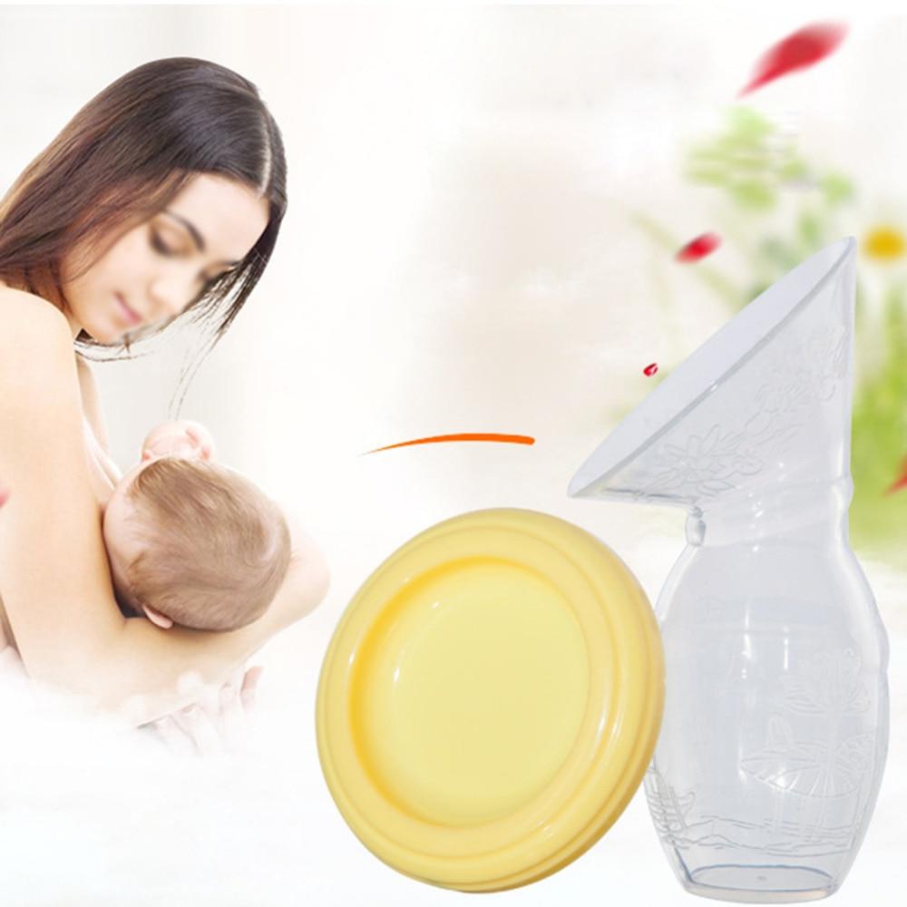Baby Feeding Manual Breast Pump Milk Sucking Device milk Collector Anti-overflow Breastmilk Silicone Breast Pump