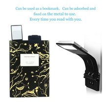 Portable LED Reading Book Light With Detachable Flexible Clip USB Rechargeable light flashlight reding lamp eyes protection bed portable led clip on reading lights 3 brightness rechargeable with usb cable flexible gooseneck dimmable book lamp for table bed
