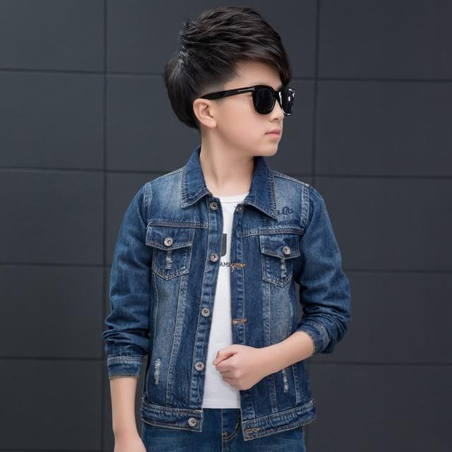 90fcd788851b Spring Denim Boys Jacket Blue Boy Outerwear 2017 Fashion Casual Kids ...