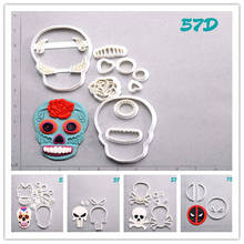 Sugar Skull Deadpool Cookie Cutter Set Custom Made 3D Printed Cake Decoration Tools Fondant Moulds for Cupcake