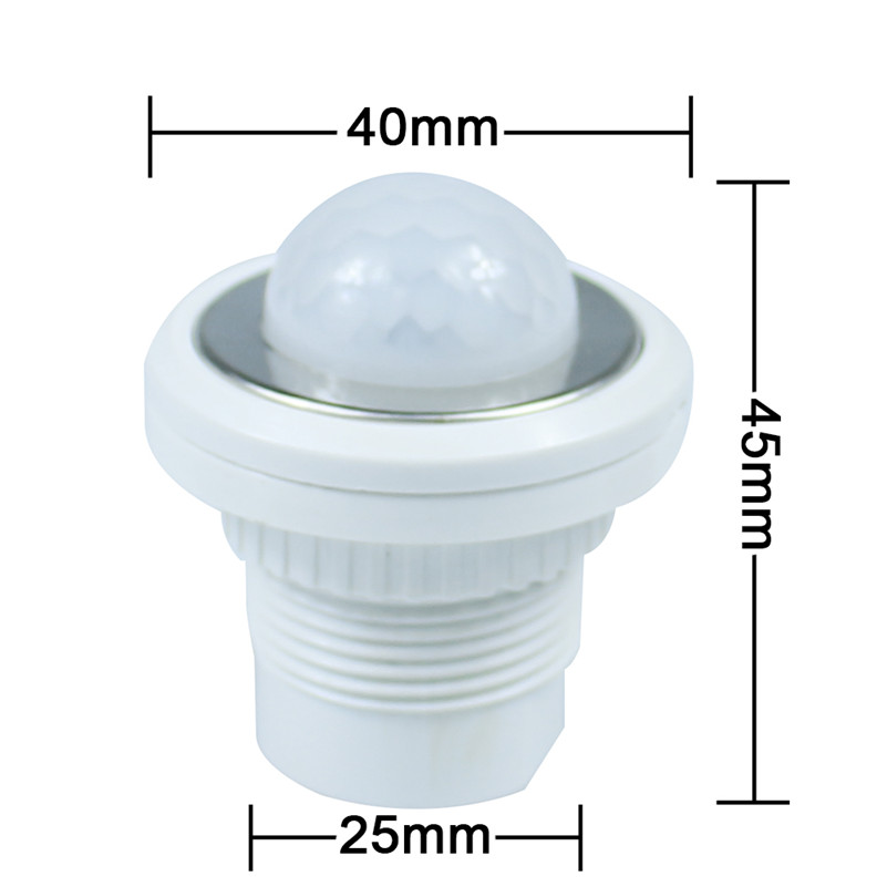 1pcs 40mm PIR Infrared Ray Motion Sensor Switch time delay  adjustable mode detector switching 10pcs ac100 240v body pir infrared ray motion sensor switch time delay adjustable mode detector switch for panel ceiling lamp