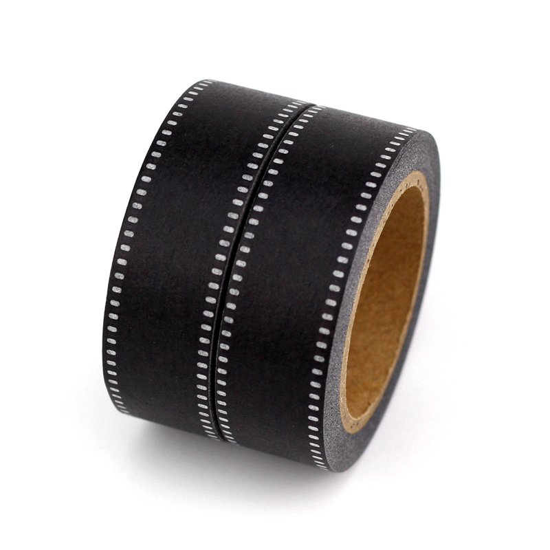 NEW 2PCS/lot Cute Camera Negative Film Decorative Washi Tapes Paper DIY Scrapbooking Adhesive Tape 1.5cm*10m/Roll School Supply
