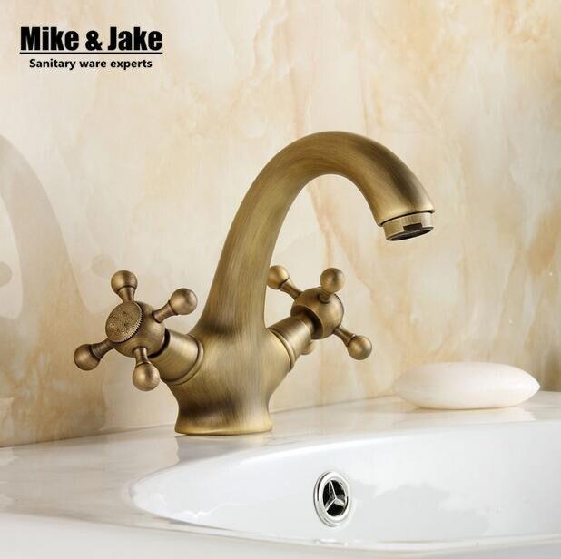 Robinet antique en laiton massif bronze double poignée de contrôle robinet de cuisine salle de bains mitigeur robinet antique
