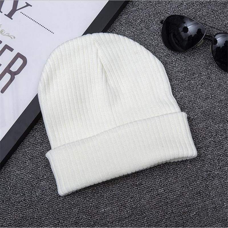 где купить XUYIJUN Women Men Unisex Knitted Winter Cap Casual Beanies Solid Color Hip-hop Snap Slouch Skullies Bonnet beanie Hat Gorro по лучшей цене