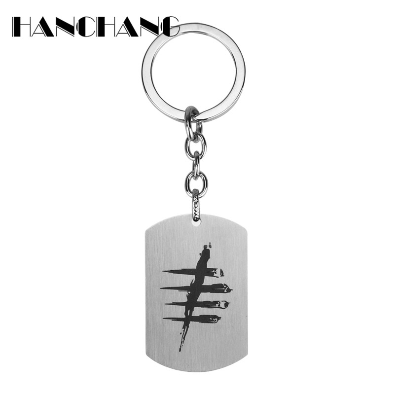 New Design Game Jewelry Dead by Daylight Keychain Dog Tag Pendants Keyrings&Key Chain ch ...