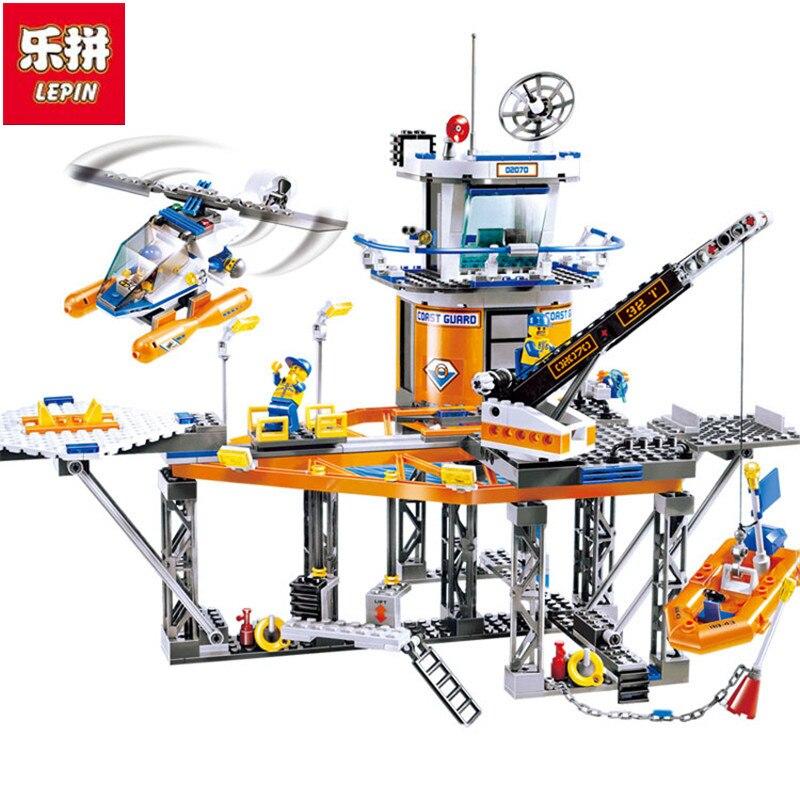 Lepin 2017 New Relax Coast Guard City Platform City CITY Series 4210 Assembled Building Blocks  Children Toys 02070