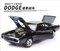 1 32 Scale Fast Furious 7 Alloy Dodge Charger Pull Back Toy Cars Diecast Model Kids