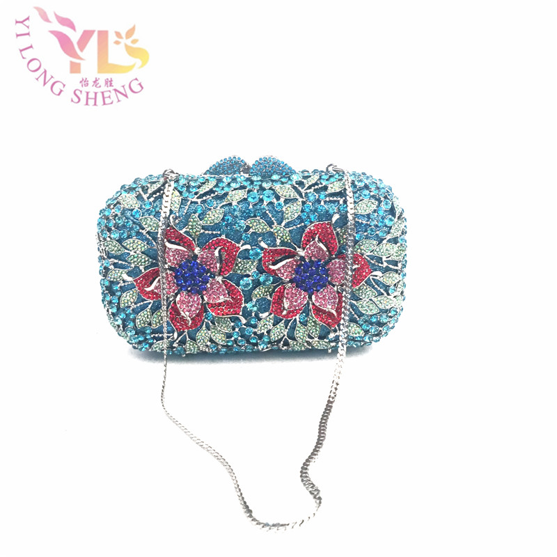 Blue Women Clutch Crystal Evening Bags Women Rhinestone Hard Box Clutch Purse Evening Bags Hard Box Cocktail Wedding Bag YLS-32 cotton spring thomas train children clothes set long sleeve sleepwear pajamas boy sports suit blue tracksuit for 2t 7t kids