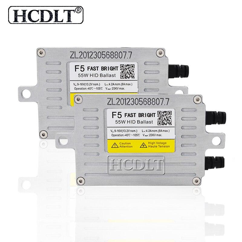 HCDLT AC 12 V 55 W Reator DLT F5T HID Ballast modification pour voiture Kit ampoule phare Xenon H1 H4 H7 H11 HB4 55 W F5 Ballast de démarrage rapide