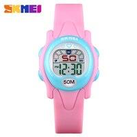 Skmei 어린이 시계 방수 크로노 그래프 스포츠 손목 시계 키즈 알람 시계에 대한 럭셔리 빛나는 디지털 시계 montre enfant