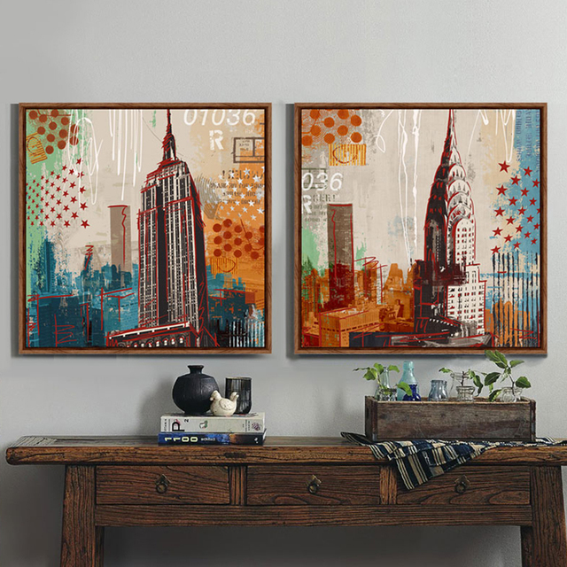 New York street architectural art graffiti prints canvas prints ...