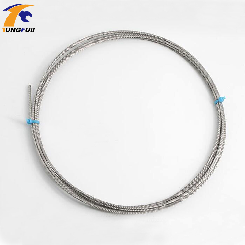 304 Stainless Steel Wire Rope Alambre Softer Fishing Lifting Cable 7X7 Structure 10M 0.45mm-1.8mm Fast Shippping304 Stainless Steel Wire Rope Alambre Softer Fishing Lifting Cable 7X7 Structure 10M 0.45mm-1.8mm Fast Shippping