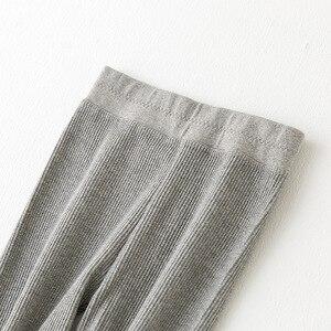 Image 4 - Kadınlar siyah gri tayt dar pantolon Kawaii sevimli kaburga tayt kız konfor pamuk Spandex streç Legging bayanlar tayt wk033