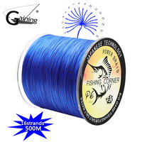 PE Braid Line 500M 16 Strands Braided Fishing Line Multicolor Super Power Japan Multifilament Saltwater/Freshwater