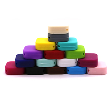 10pcs Candy Silicone Beads Cube Loose Jewelry Baby Teething Beads Food Grade font b Sensory b