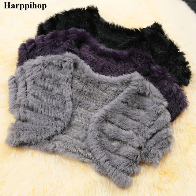 Hot-selling 2017 small wedding shawl women knitting rabbit fur shawl cape wrap scarf vest bride female waistcoat free shipping