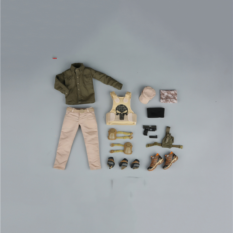 все цены на Female VIP Security Team Golden Clothes Set 1/6 for 12'' Figure without Body Head Glasses and Weapon онлайн