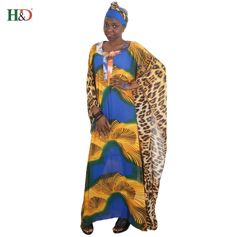 afrikanska kvinnor lång mantel leopard tryckt lös maxi klänningar - Nationella kläder - Foto 2