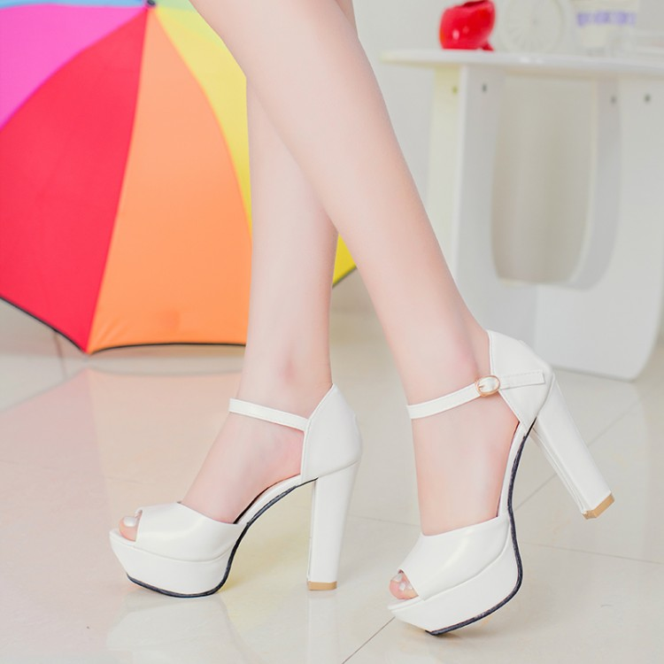 2015 New Arrival Summer Thin High Heel Platform Ankle Wrap Peep Toe Women Fashion Casual Sandals Shoes Size 35-39 SXQ0617 summer new large size denim shorts female high waist jeans thin 2017 new fashion women slim belly short pant