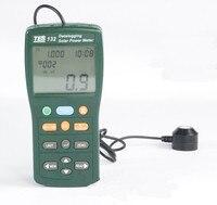 Солнечный Мощность метр тестер Datalogging W/USB кабель и программное обеспечение TES 132 Новый