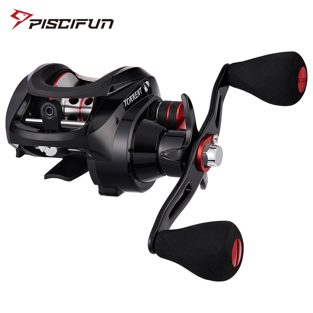 Piscifun Torrent Baitcasting <font><b>Reel</b></font> 8.1kg Carbon Drag 7.1:1 <font><b>5.3:1</b></font> Gear Ratio 6 Bearings Low Profile Magnetic Brake Fishing <font><b>Reel</b></font> image