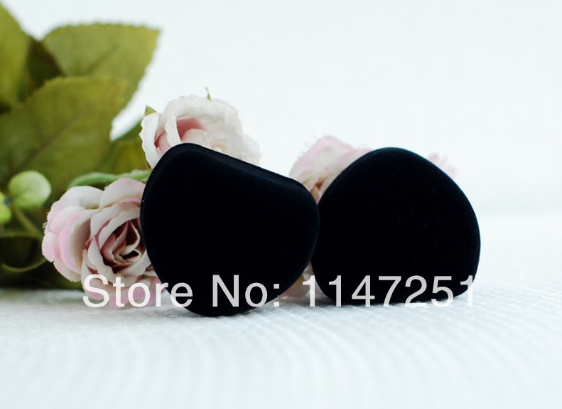 Free Shipping 48pcs Lot 5x4 5x3 5cm Black Velvet Ring Box Heart Shape Jewelry Earrings Packaging
