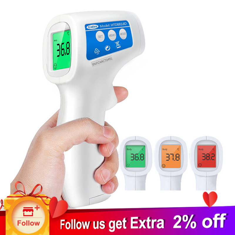 Cofoe Stirn Nicht Kontaktieren Infrarot Baby Thermometer Körper Temperatur Fieber Digitale Maßnahme Werkzeug Für Baby Erwachsene GroßEr Ausverkauf