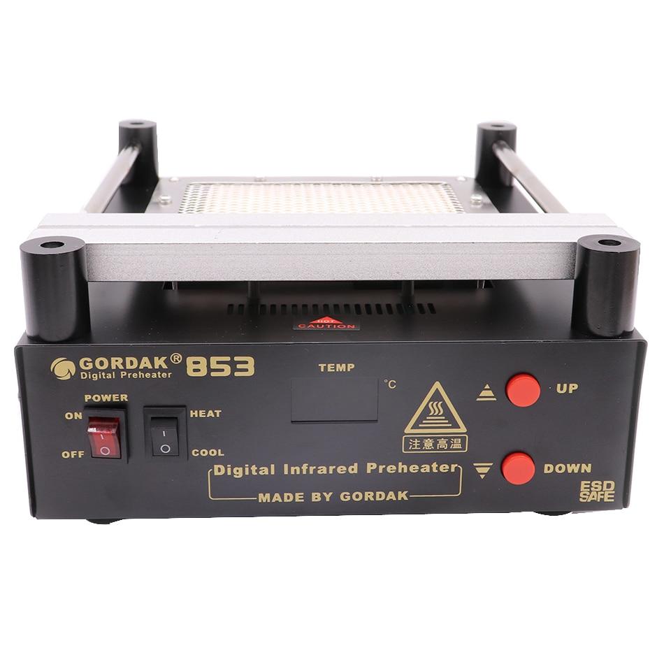 Tools : Gordak 853 BGA rework soldering station preheating station desoldering station hot air station and electric iron