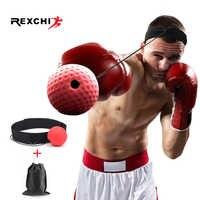 REXCHI Kick boxe réflexe balle tête bande combat vitesse entraînement balle de frappe Muay Tai MMA équipement d'exercice accessoires de sport