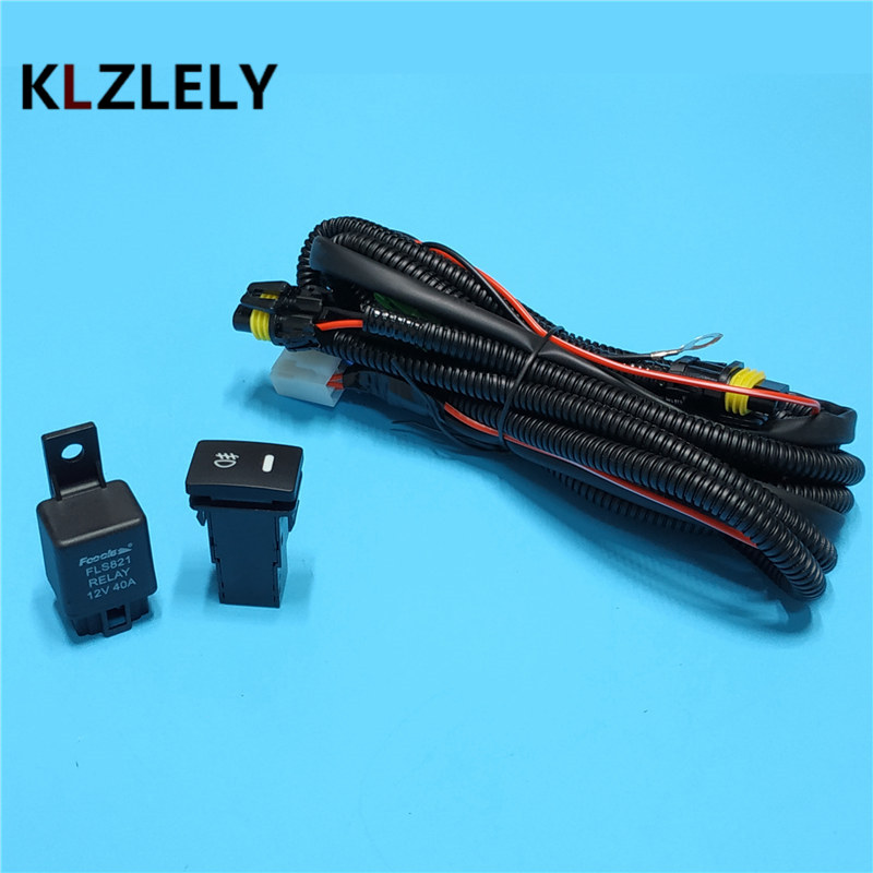 Beler Wiring Harness Wire Sockets + Switch For H11 Fog Lamp For NISSAN on