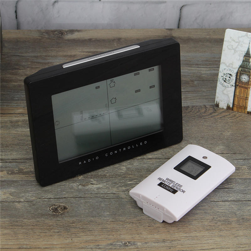 Wireless Digital LCD Weather Station Alarm Clock Forecast Electronic Temperature Clock Hygrometer Calendar Display supplies bag khs075vg1ba g83 38 29 lcd calendar