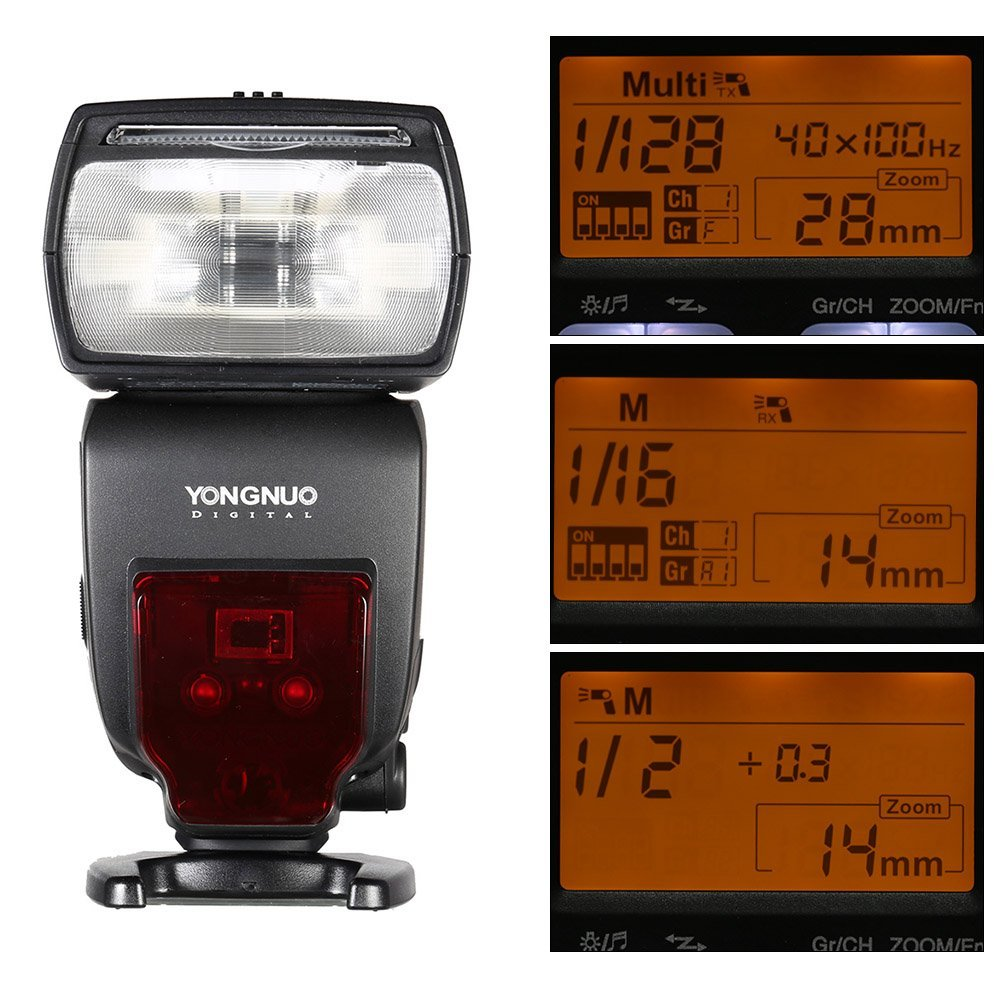 YONGNUO YN660 GN66 2.4G Wireless Master Slave Speedlite Flash for Nikon Canon DSLR Camera цена