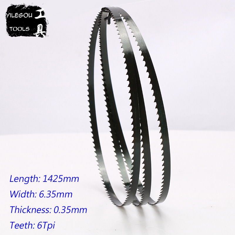 "Image 2 - Free Shipping 2 Pieces 8"" Band Saw Blades 6.35*0.35*1425mm*14 Teeth Wood Band Saw Blades Cutting Curve 1425*6.35*0.35mm*6 Teeth-in Saw Blades from Tools"