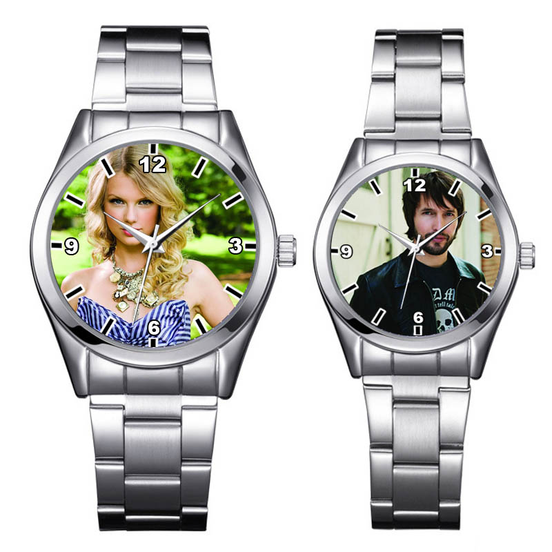07d3370db A4713 مخصص صورة ووتش ساعات الفولاذ الصورة مخصصة شخصية ساعة اليد DIY هدية  عيد ميلاد لصبي