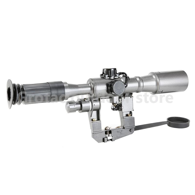 Охотничий оптический Тактический pos 6x36 1 красный с подсветкой SVD AK Rifle Scope RifleScope