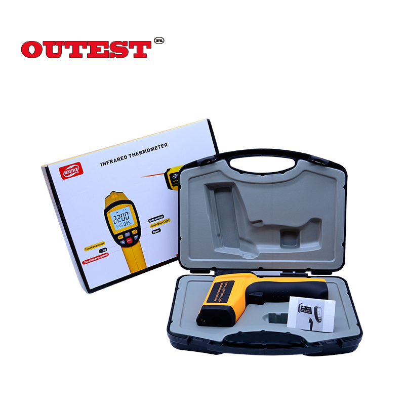 (With Carry Box)GM1150 Non-Contact 12:1 LCD IR Infrared Digital Temperature Gun Thermometer -50~1150C (-58~2102F) adjustable gm1150 non contact 12 1 lcd display ir infrared digital temperature gun thermometer 50 1150c 58 2102f 0 1 1 00 adjustable
