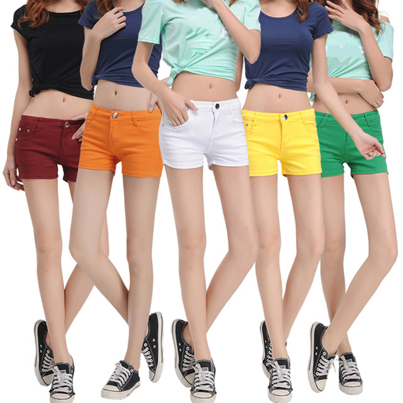 2018 Summer Cheap   Shorts   Women Fashion Multi-colors   Shorts   Mid Waist Thin Slim Mini   Shorts   Ladies Casual Cotton   Shorts   Plus Size