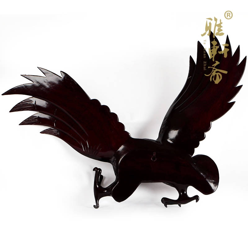 Jaipur Artes decorativos hogar TZ madera de caoba tallada águila ...