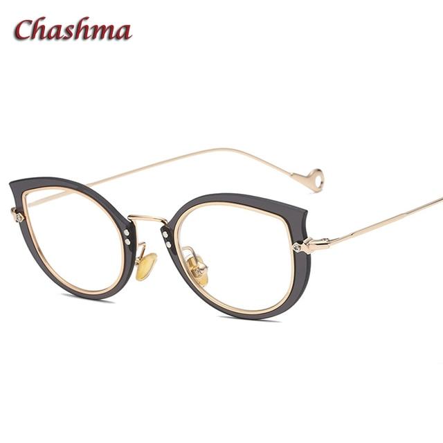 20a4fa6a5d2 Chashma Brand Female Eyeglasses Designer Cat Eye Stylish Transparent  Optical Glasses Frames Fashion Glasses for Women