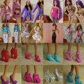 Подробная информация о 15 Шт 5 Пар Обуви + 5 Компл. Одежда Брюки Платье Для Barbie Кукла Ручной Работы