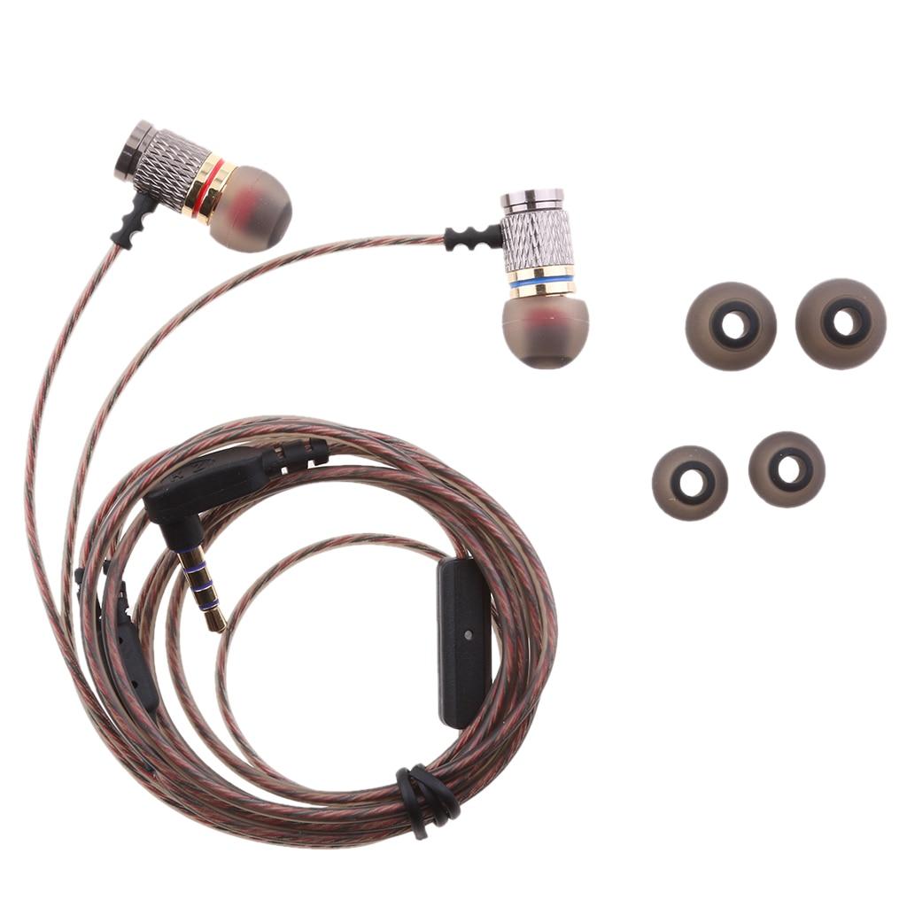 Super Heavy Bass Earphone Stereo HIFI DJ Earphones with MIC Metal Headphone