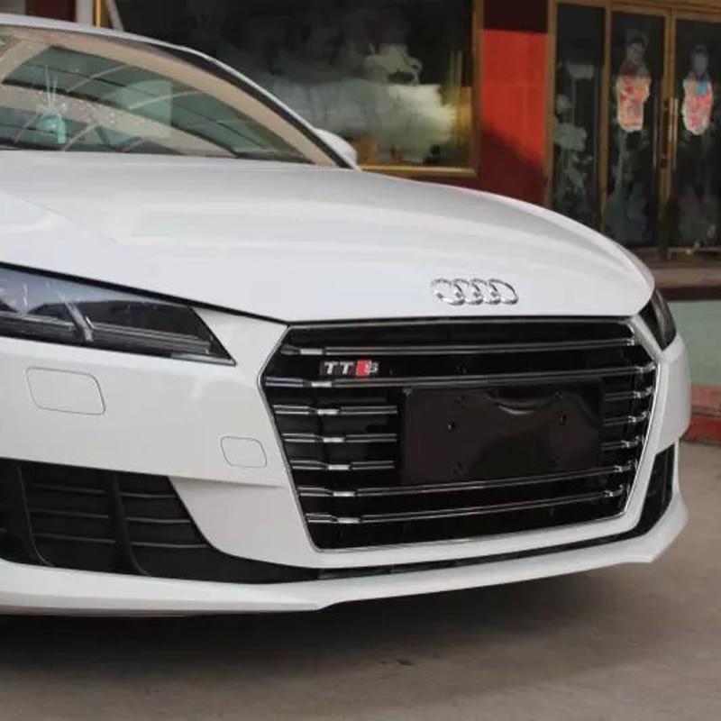 Tts Style Chrome Frame Black Front Bumper Grill Grille For Audi Tt