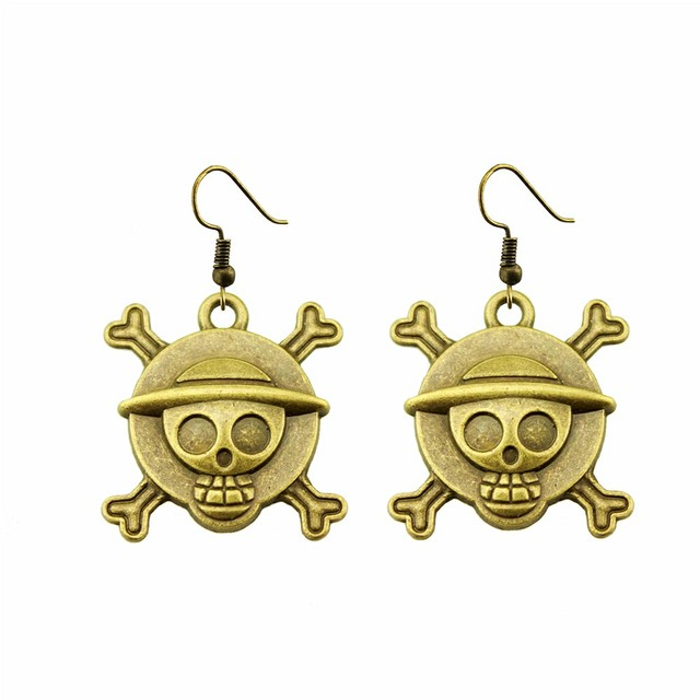 Handmade Skull Drop Earrings For Women Fashion Pirate
