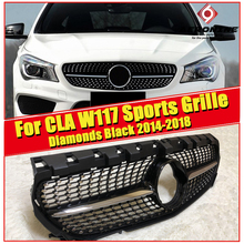 For MercedesMB CLA W117 sports grille grill ABS gloss black Without sign Class CLA180 200 250 CLA45 look Front grills 2014-