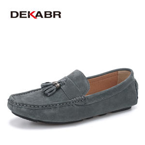 DEKABR New Suede Leather Men Loafers Moccasins Designer Men Casual Shoes High Quality Breathable Flat Boat Men Shoes Size 38-44
