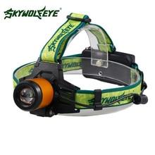 1Set Flashlight Cycling Bike Head Front Light 2017 Zoomable 4500Lm Headlamp XM L LED Headlight 18650