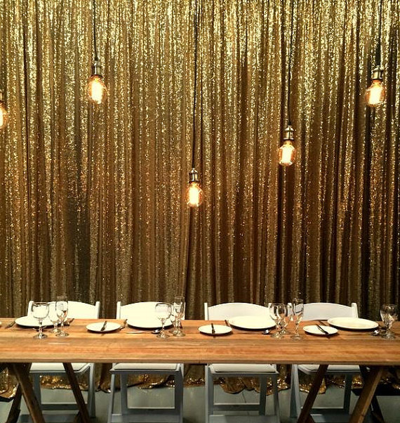 10FTX10FT Silver Gold Shimmer Sequin Fabric Backdrops Wedding Photo BoothSequin CurtainsDrapes